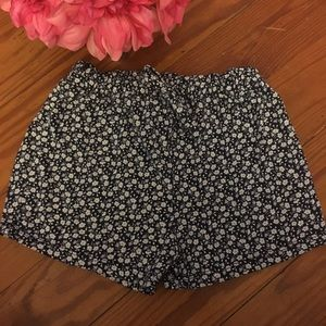 Vintage Baby Gap Navy Floral Cotton Shorts